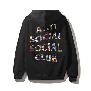 Anti Social Social Club Flag Black Hoodie